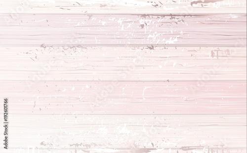 Fotografie, Obraz  Shabby wooden pink background. Vector illustration