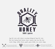 Design Of Honey Labels. Badge ...