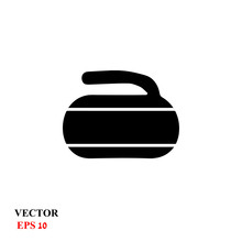 Curling Stone. Vector Illustra...