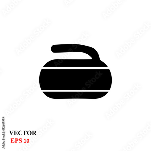 Foto Curling stone. vector illustration