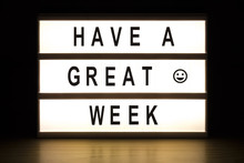 Have A Great Week Light Box Si...