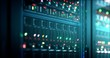 canvas print picture - Server in datacenter. Cloud computing data storage 3d rendering