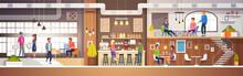 Modern Cafe Interior In Loft S...