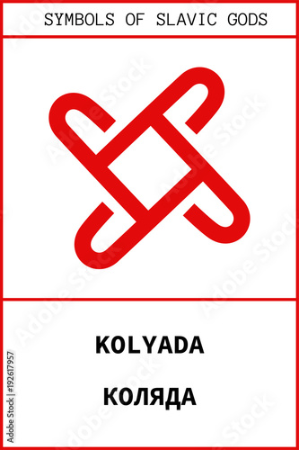 Fotografia Symbol of KOLYADA ancient slavic god