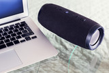 portable speaker with laptop