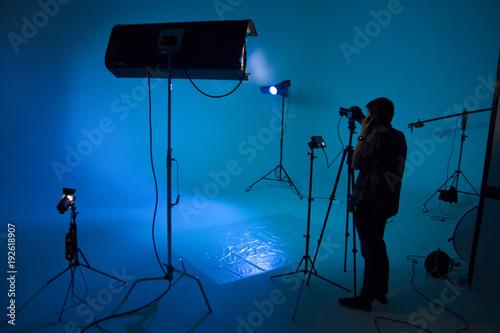 Process of making film, film crew