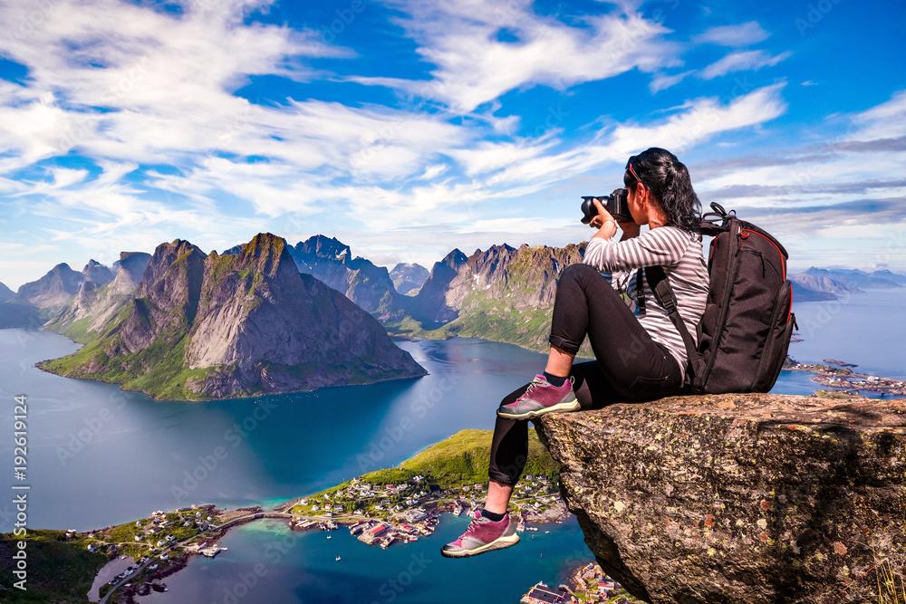 Fototapety, obrazy: Nature photographer Norway Lofoten archipelago.