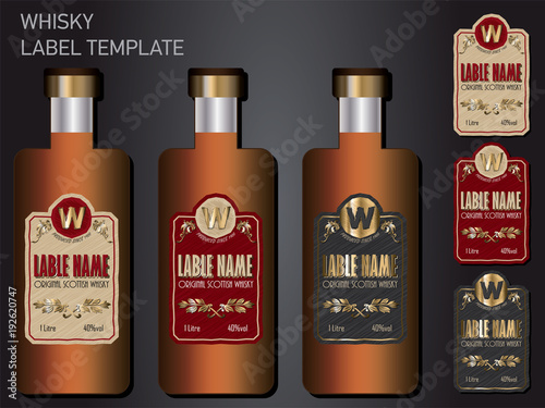 Whisky Label Template By Hockeyman