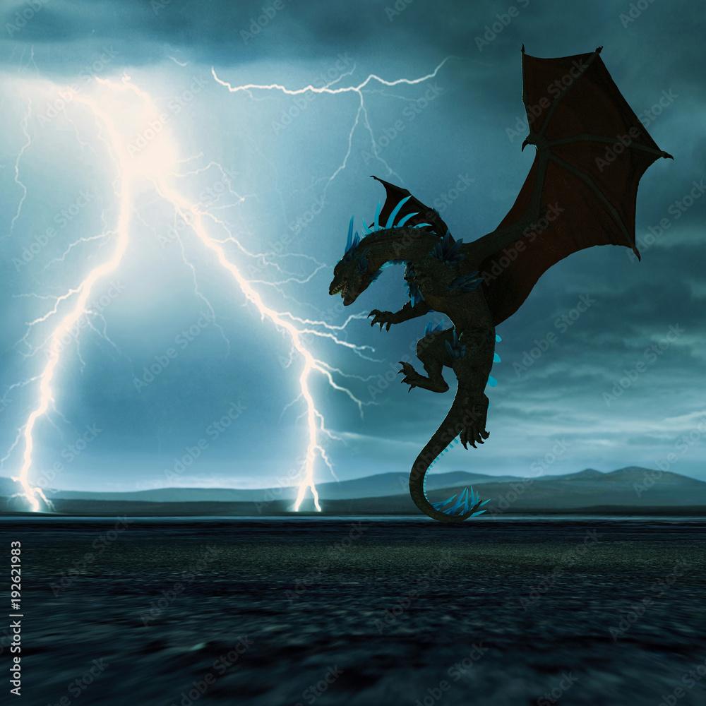 thunderstorm crystal dragon