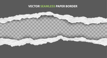 Seamless Torn Paper Edges, Vec...