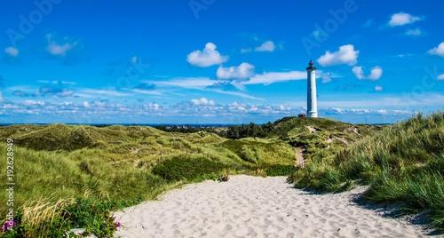 Fotografia faro Hirtshals sulla costa danese dello Jutland