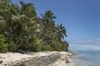 Rarotonga Cook Islands. Polynesia. Lagoon beach