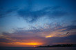 beautiful clouds at sunset. sunset over the sea.Sunset / sunrise with clouds, light rays and other atmospheric effect. sunset over the sea, calm . the concept of tranquility. rest and travel