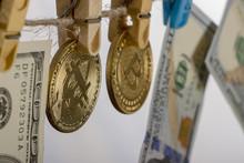 Money Laundering Concept. Yell...