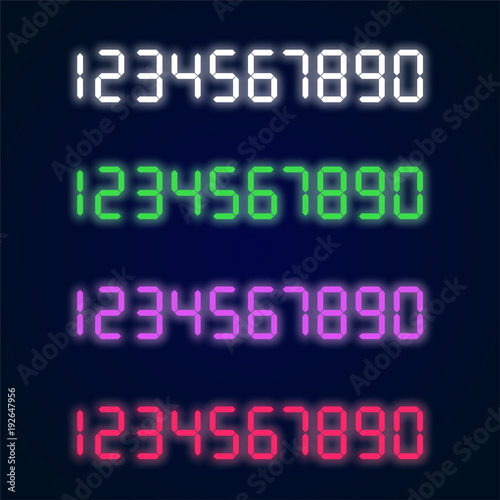 Photo  Home appliance digital numbers vector set