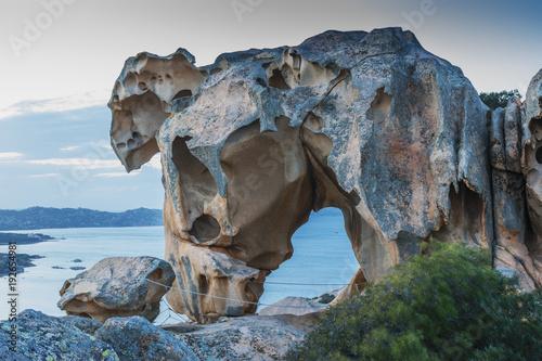 Roccia dell'Orso, Palau - Costa nord est della Sardegna Canvas Print