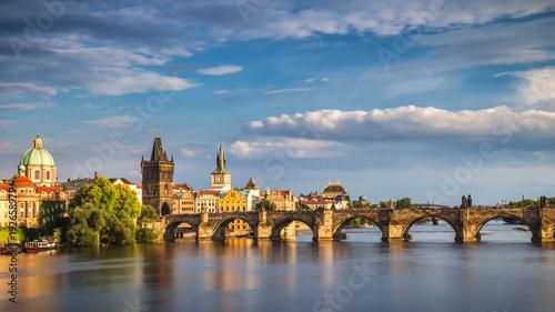Recess Fitting Prague Charles Bridge in the Old Town of Prague, Czech Republic