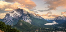 Sunset Of Mount Rundle In Banf...