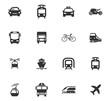 Public transport icons set