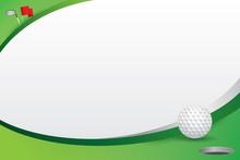 Golf Design Background. Vector Illustration