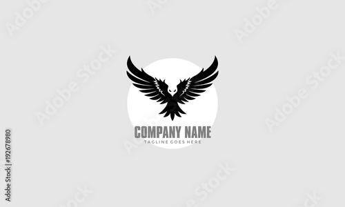 Bird Fly Logo - Eagle Wing Vector Canvas Print