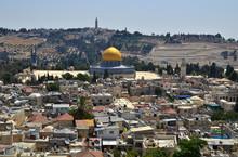 Felsendom Mit Ölberg Jerusalem