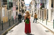 Woman Wearing Portuguese Flag ...