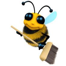 3d Funny Cartoon Honey Bee Cha...