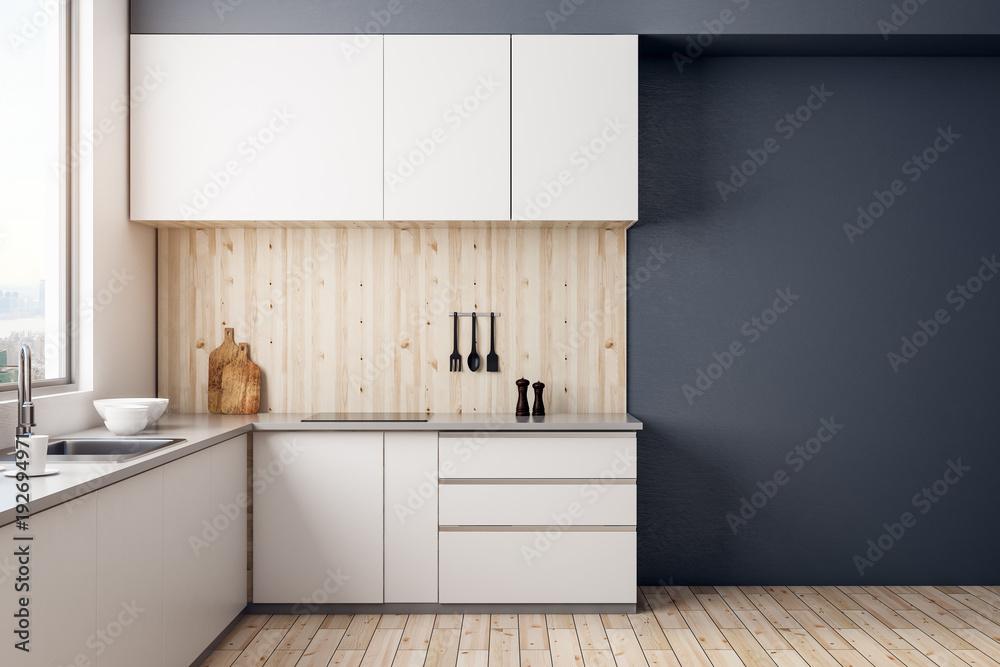Fototapeta Modern kitchen interior - obraz na płótnie