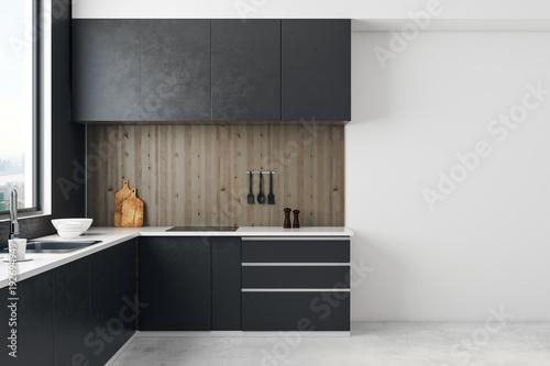 Fototapeta Contemporary kitchen interior obraz na płótnie