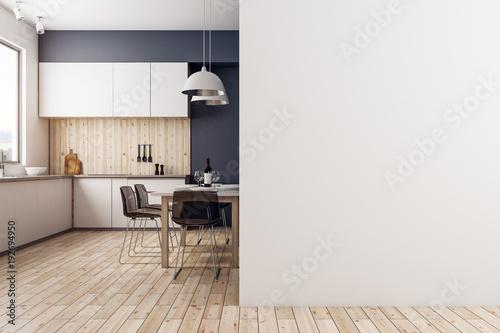 Obraz Modern kitchen with copyspace - fototapety do salonu