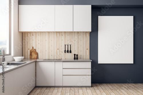 Fototapeta Contemporary kitchen with copyspace obraz na płótnie