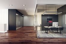 Bright Glass Office Interior