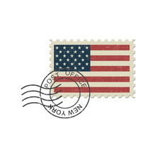 Postage Stamp United States Of America Flag