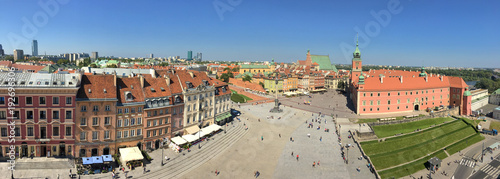 fototapeta na szkło Plaza del Castillo, Varsovia, Polonia