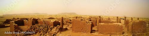 Foto op Aluminium Rudnes Panorama of Musawwarat es-Sufra ruins at Meroe, Sudan