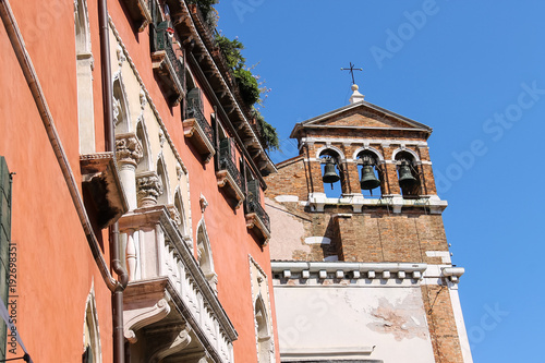 Bells of Santa Maria Zobenigo church in Venice, Italy Canvas-taulu