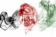 Afghanistan Smoke Flag