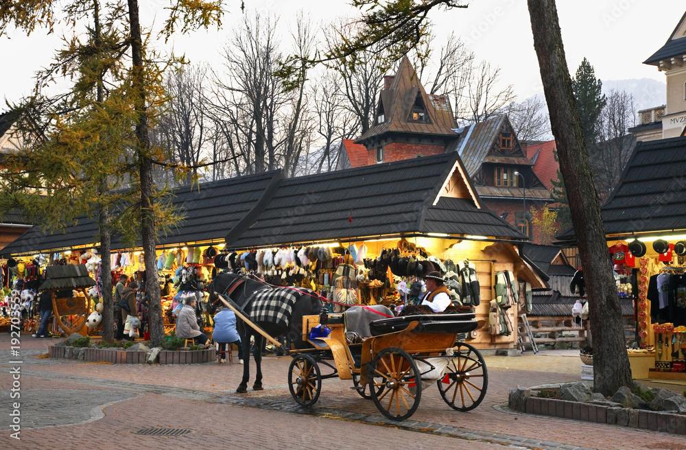 Fototapety, obrazy: Krupowki street in Zakopane. Poland