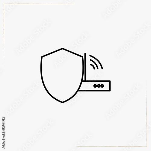 wireless connection modem line icon