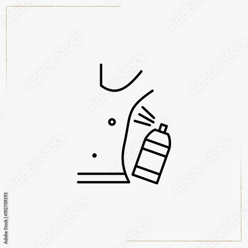 Photo antiperspirant line icon