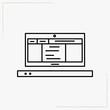 lap top line icon
