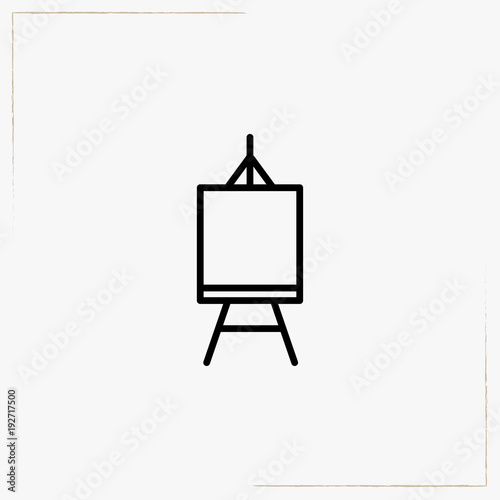 easel line icon Wallpaper Mural