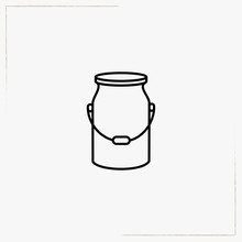 Milk Can Line Icon