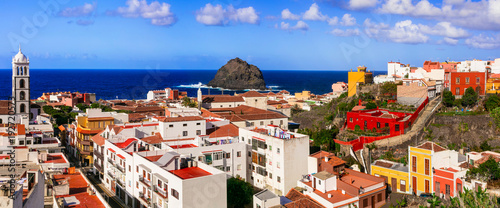 Deurstickers Canarische Eilanden Landmarks and beautiful places of Tenerife - colorful town Garachico, Canary islands