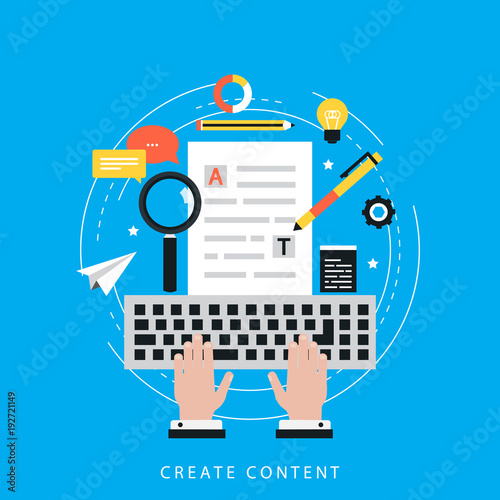 Carta da parati Web content strategy process, digital content, website content creation and test