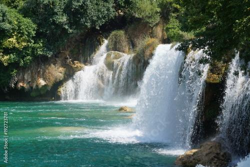 Recess Fitting Waterfalls parc, national, krka, Croatie, beauté, cascades, ravières, paysages