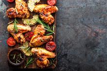 Appetizing Chicken Wings Grill...