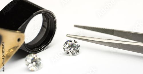 Round cut diamond Canvas-taulu