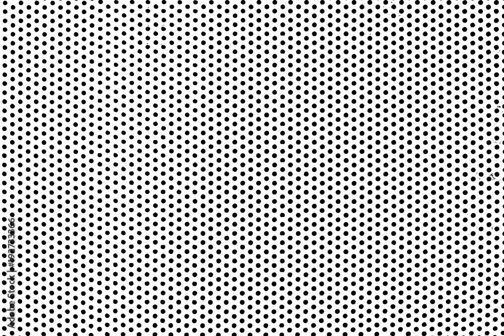 Fototapeta Grunge Black and White Distress. Dot Texture Background. Halftone Dotted Grunge Texture.